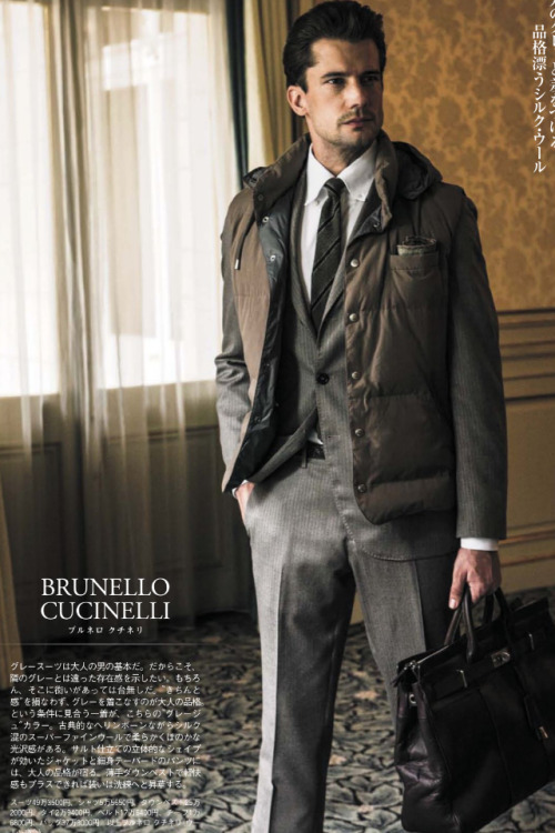An ad for an Italian suit in a Japanese magazine!