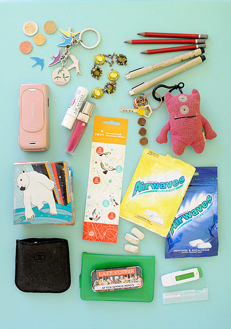 What´s in your bag by jutta / kootut murut on Flickr.