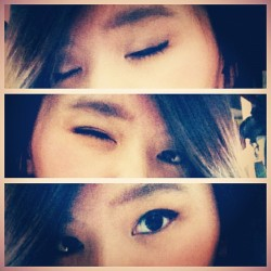 My eyes 👀🌻 #me #myself #eyes #makeup #eyeliner #blush #3in1 #selca #instapic #instadaily #likeforlike #pictoftheday  (Taken with Instagram)