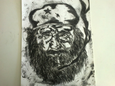 Against what I normally post, but I did this etching in Art and I am really quite happy with the result