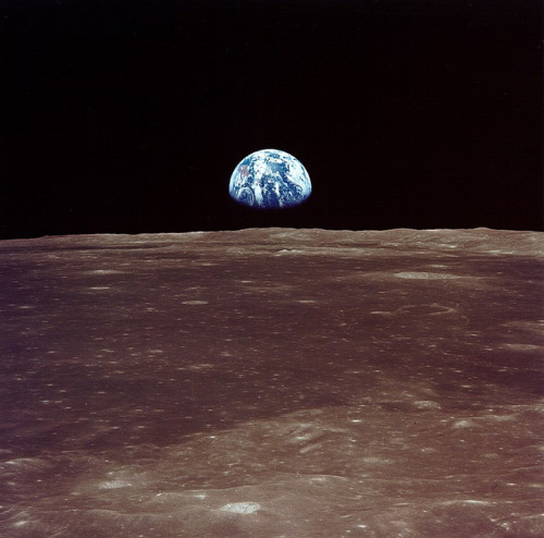 Archive: Apollo 11 Sees Earthrise (NASA, Marshall, 07/69) by NASA's Marshall Space Flight Center on Flickr.Via Flickr: Earthrise: view from lunar orbit prior to Apollo 11 landing. Image credit: NASA