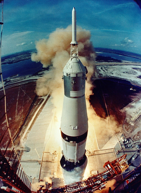 spacettf:  Archive: Apollo 11 Liftoff (NASA, Marshall, 07/16/69) by NASA's Marshall Space Flight Center on Flickr.Via Flickr:July 16, 1969: Liftoff of Apollo 11. Image credit: NASA