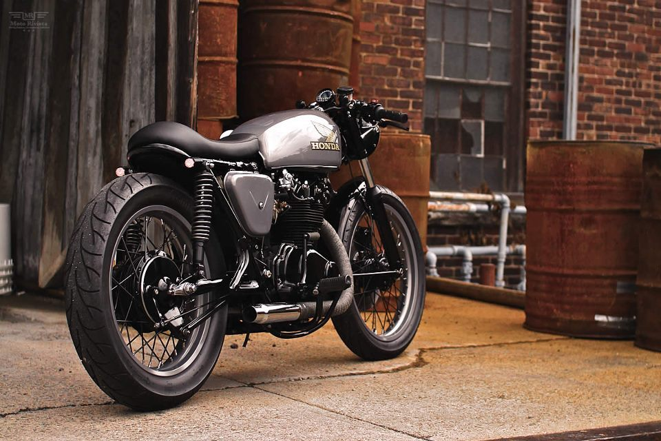 CB450 by Joe Archambault called 'Lucky 13'. Photo by Andrew Pascarella.