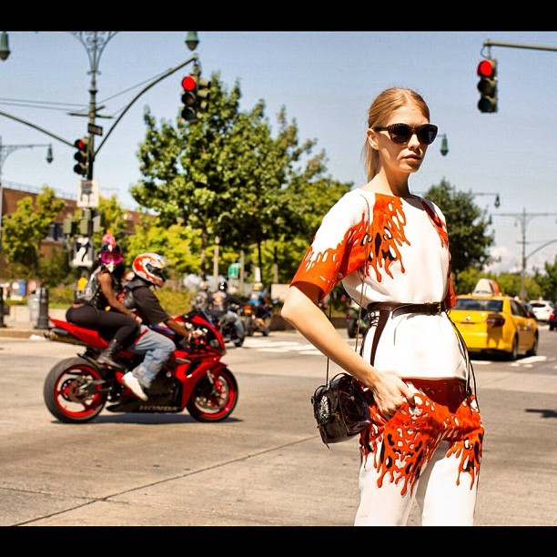 @lenaperminova in @TibiPR in my fav shot of the season #nyfw  (Taken with Instagram)