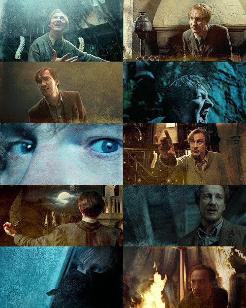 "ladyarlawyn:   [★]1/10 Male Characters: Remus Lupin  ""I was also playing with that [intolerance] when I created Professor Lupin having a contagious disease so people are frightened of him. I really liked him as a character but he also has his failing though he's a nice man and a wonderful teacher – in fact he's the one time I've written a teacher… the kind of teacher I'd have loved to have had. McGonagall is a good teacher but scary at times. Lupin's failing is he likes to be liked. That's where he slips up – he's been disliked so often he's always pleased to have friends so cuts them an awful lot of slack."" (J.K. Rowling)"