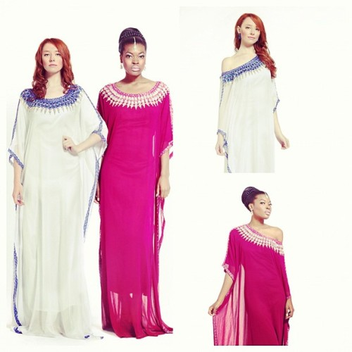 #yarayosif original #kaftan Mariam and Fatima #designs. Order from YaraYosif.com. #photography by @gregwaldo . #models Cindy and Nikisha . #hair by GaudeAndGold.com #MUA @lilyangelica .  (Taken with Instagram)
