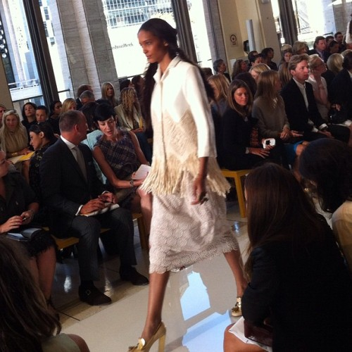 Crochet coats at Tory Burch  Photographed by Naomi Nevitt