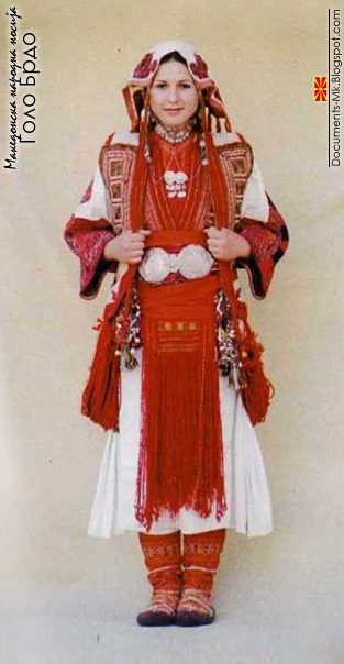 folkthings:  Macedonian folk costume of Golo Brdo