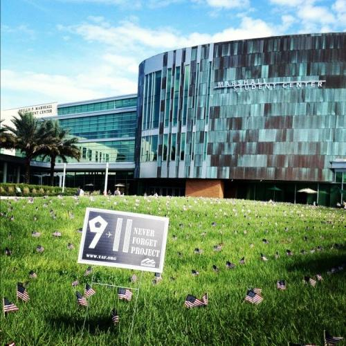 The 9/11 Never Forget Project at the University of South Florida. (source: sara_bennett4)