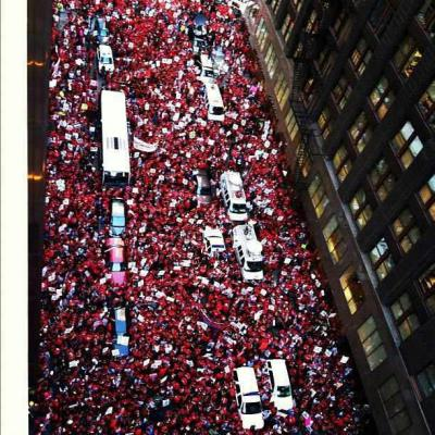 The people united.  Chicago Teachers Union strike. Monday September 10, 2012.  Image from Chicago Jobs With Justice on facebook