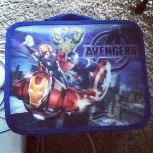 Im ready for school! #avengers #college #imanerd #lunchbox (Taken with Instagram at Santiago Canyon College)