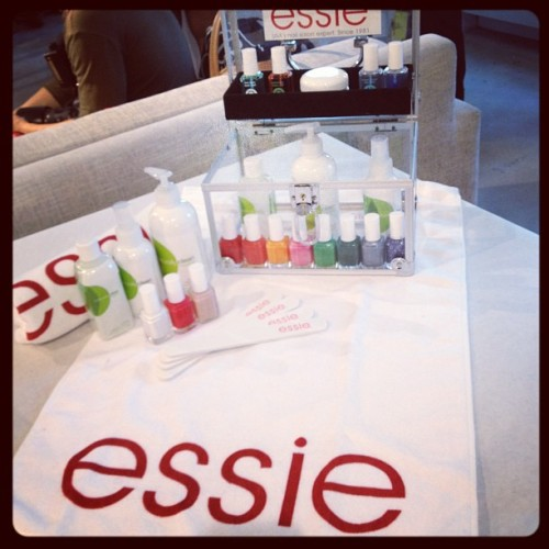 The Essie color station is ready for manicures Photographed by Eden Univer