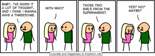 Threesome [Click to see more Cyanide & Happiness comics]