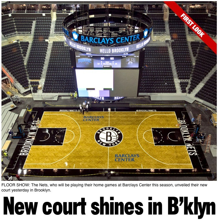 sportsnetny:  NY Post: New court shines in B'klyn