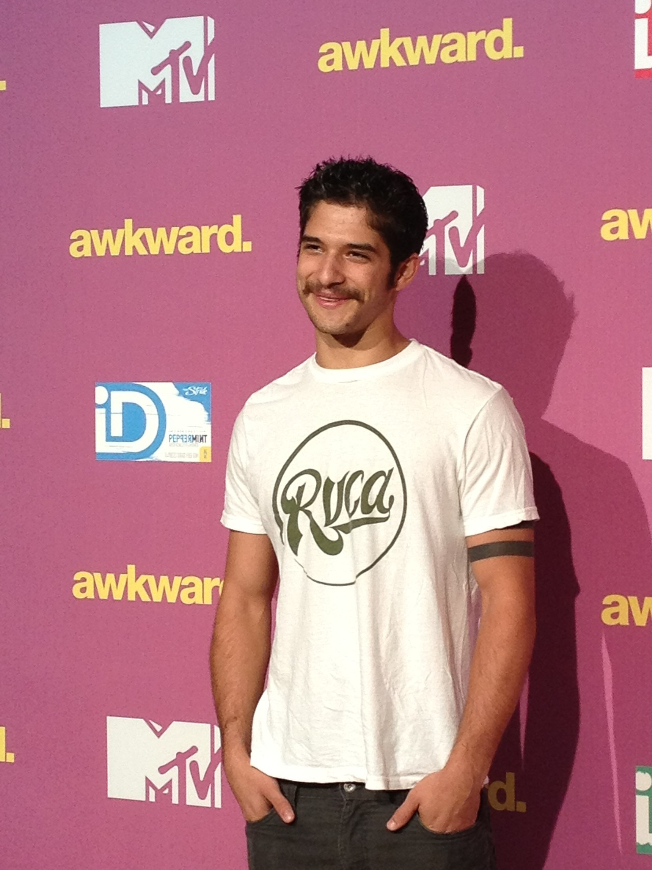"Tyler Posey With a ""porn"" stach at Awkward Event"