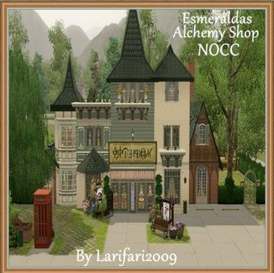 Esmeraldas Alchemy Shop by Larifari2009 is the perfect for your alchemist Sims! DL here: http://bit.ly/RA68wG