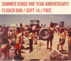 This Friday is the one year anniversary of my album, Summer Songs! Come out and celebrate with us at Flicker! Lucas is out of town so we'll be playing a more mellow set with Ryan on guitar instead of bass. There will be FREE BUTTONS!