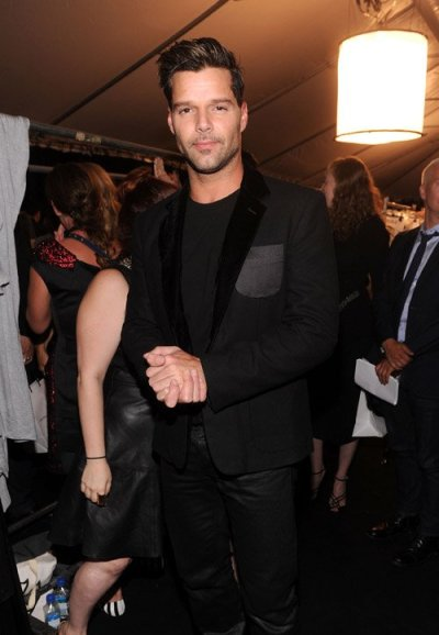 #NYFWsinger Ricky Martin at the Marc Jacobs Runway Show last night