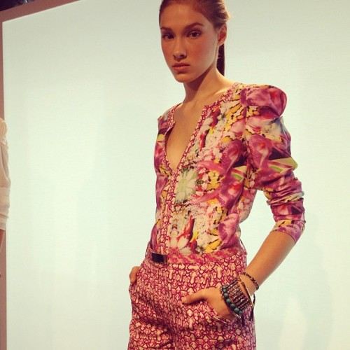 theglitterguide:  Mixing prints @rachel_roy #nyfw  (Taken with Instagram)