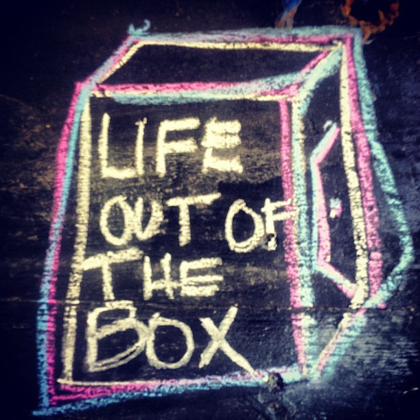Life Out of the Box on a chalkboard. Love it. #artsy (Taken with Instagram at Laguna de Apoyo)