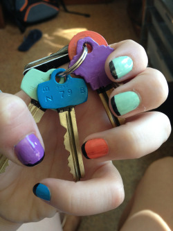 """Do your nails match your keys?"" Why yes they do."