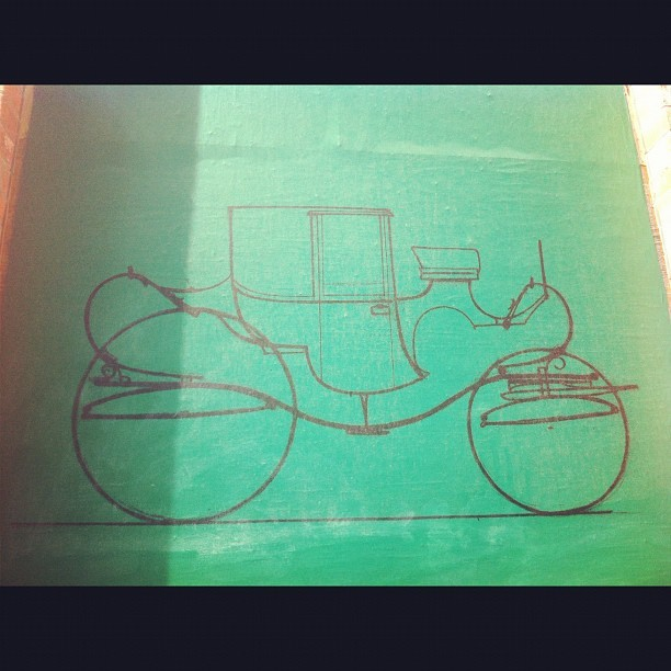 Love the carriage sketch poster on Mott st #soho (Pris avec Instagram)