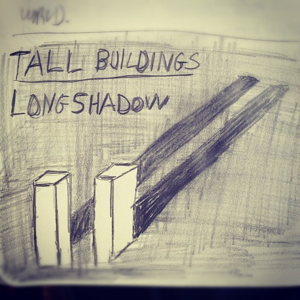 Tall Buildings, Long Shadows. #sept11  (Taken with Instagram)
