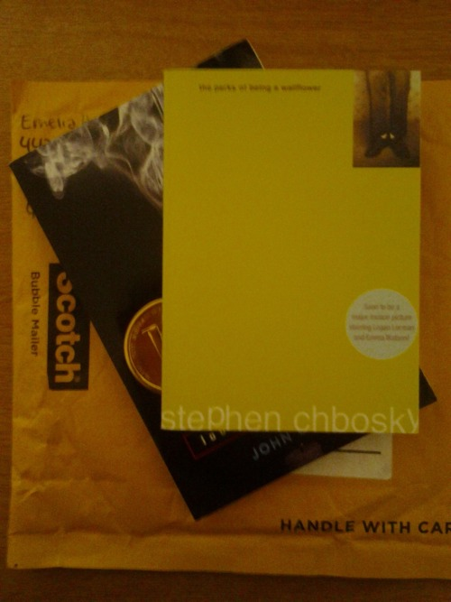 I have the bestest best friend who sends me books in the mail! :)