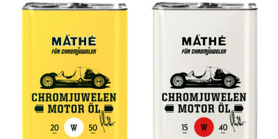 (via Chromjuwelen Motor Öl - The Dieline -)