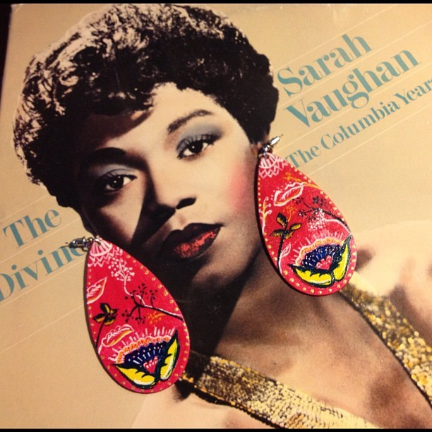 The Sarah Vaughan dangle earrings #goodlucklove #unique #oneofakind #handpainted #handmade #earrings #sarahvaughan http://www.etsy.com/shop/fromlovebyDAYS (Taken with Instagram)