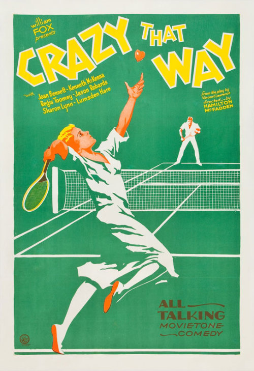 US one sheet for CRAZY THAT WAY (Hamilton McFadden, USA, 1930) Artist: uncredited Poster source: Heritage Auctions