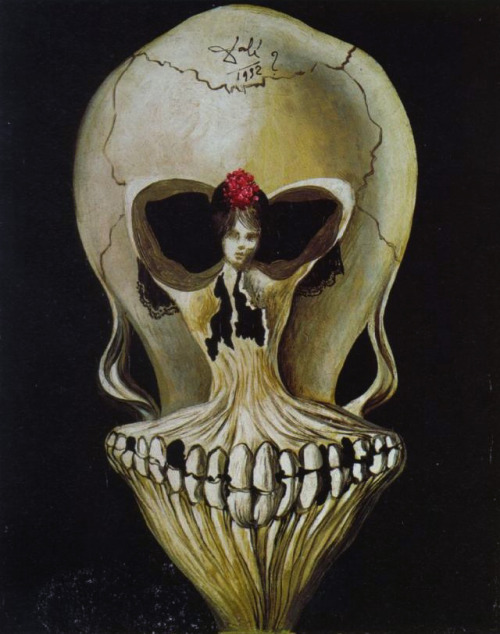 Ballerina in a Death's Head, Salvador Dali