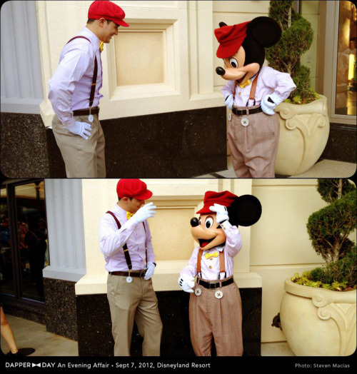 loveofdisney:  Dapper Mickey and Guest on Dapper Day!