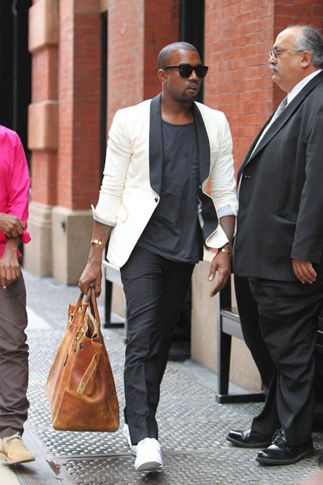 "bvsedjesus:   Kanye with a fascinating ""off-white"" blazer…    ""fascinating"" LOL idk it made me laugh"
