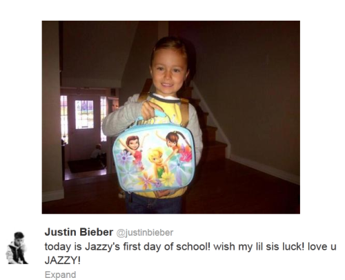 It's Jazzy Bieber's first day of school!