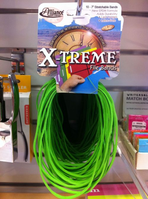 heysawbones:  X-TREME FILE BANDS! X-TREME THUMBTACKS! X-TREME TOOTHPICKS! X-TREME REMOTE CONTROL! X-TREME MANILA FOLDER! X-TREME MAMMOGRAM! X-TREME PLASTIC LAWN RAKE! X-TREME ROLL OF CLEAR SHEETING! X-TREME DMV WAITING ROOM!  A VITAL COMPONENT OF AN X-TREMELY EFFICIENT FILING SYSTEM