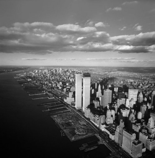 In this picture of from 1971, the nearly completed World Trade Center twin towers are shown. On the 11th anniversary of the Sept. 11 terror attacks, LIFE.com pays tribute to New York City in photos showcasing lower Manhattan, where the twin towers once stood. (Photo: Henry Groskinsky—Time & Life Pictures/Getty Images)