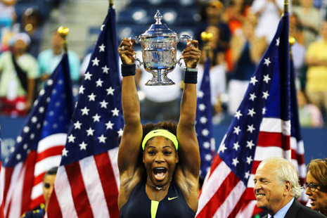 Serena Williams has been a professional athlete longer than she has not—she turned pro at fourteen and is now thirty—yet she has never been allowed to be simply an athlete. She has served as a totem for issues relating to race, class, celebrity, sibling rivalry, family conflict, and body image. The last of those threatened to overshadow her latest run to a Grand Slam title…  Reeves Wiedeman on Serena Williams: Just a Tennis Player, Finally: http://nyr.kr/Qfy2d6  Photograph by Al Bello/Getty Images.