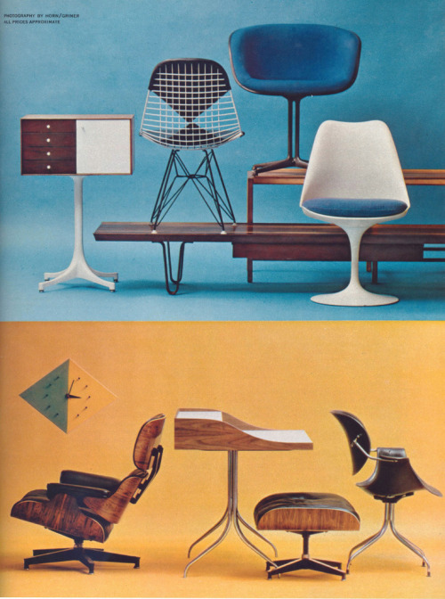 Designs for Living : From an article about modern American furniture design, with awesome photos! From the July 1961 issue of Playboy Magazine.