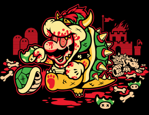 "Mario's done too many shrooms!!! ""Say No to Drugs"" is going to be featured on Qwertee tomorrow! $12 for 24 hours!Harebrained on Facebook!"