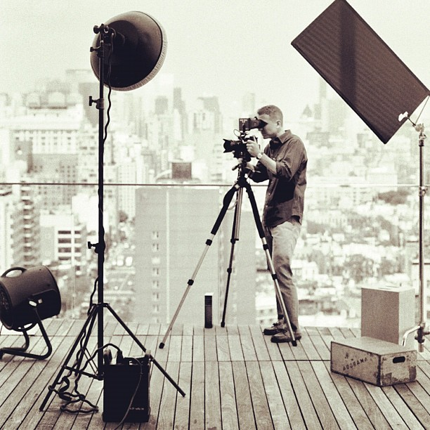 Behind the scenes, cinemagraph of Carine Roitfeld, photo by Jamie Beck