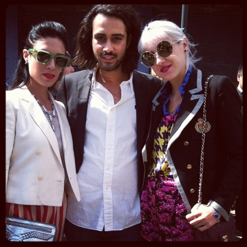 #1 fashion team missing @melissa_rubini outside of @dieselblackgold #dbgshow #bullettfashion #nyfw  (Taken with Instagram)