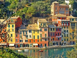 Colours of Portofino - Liguria, Italy  | by © verswe | via evysinspirations