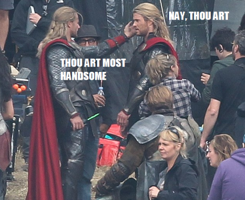johanirae:    #this is how it all ends  #Thor flirting with himself  #True love at last