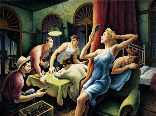 "Thomas Hart Benton Poker Night (From ""A Streetcar Named Desire"")"
