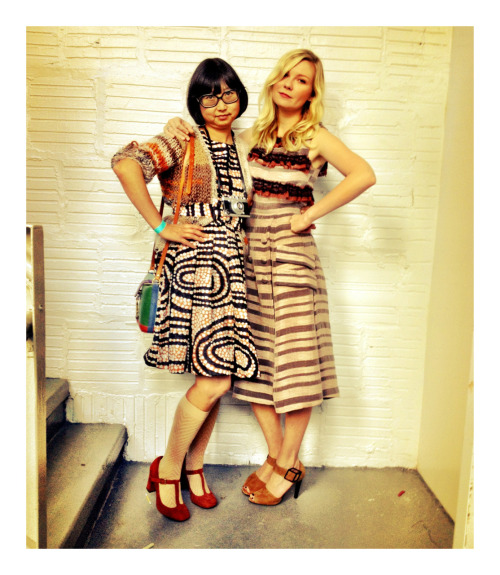 DAILY SHIRLEY SHIRLEY KURATA AND KIRSTEN DUNST KILLING IT IN RODARTE AFTER THE  SHOW