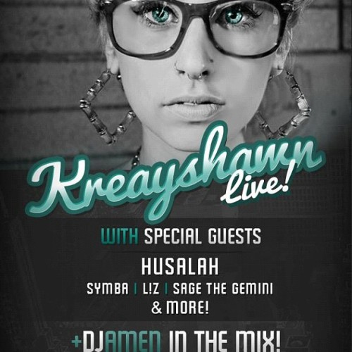 September 22nd i will be in Petaluma with the LEGENDARY Kreyshawn & Husalah at the Historical Phoenix Theater.. @djamen3000 will be in the Mix, DONT MISS OUT!!!!!! (Taken with Instagram)