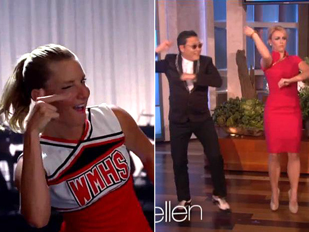 "BATTLE OF THE MEMES: Glee covers ""Call Me Maybe"" vs Britney Spears and Ellen do ""Gangham Style"" — which show gives better meme?"