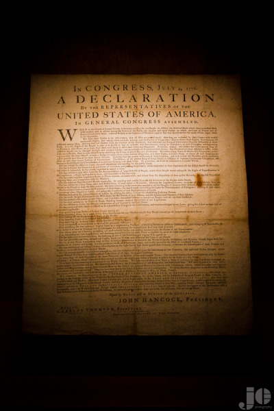 jicophotography:  1776 One of about 25 existing copies of the US Declaration of Independence on display at the Dallas Public Library.