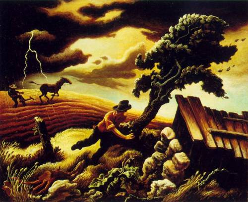 Thomas Hart Benton The Hailstorm
